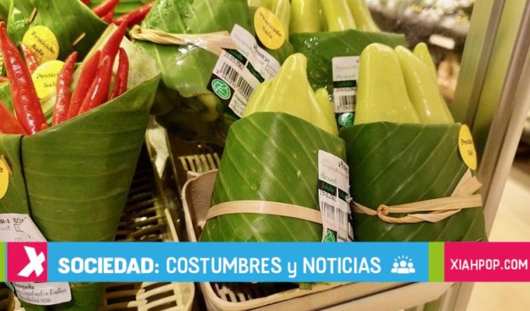Hojas de Banana, el remplazo a las bolsas plástico en Asia