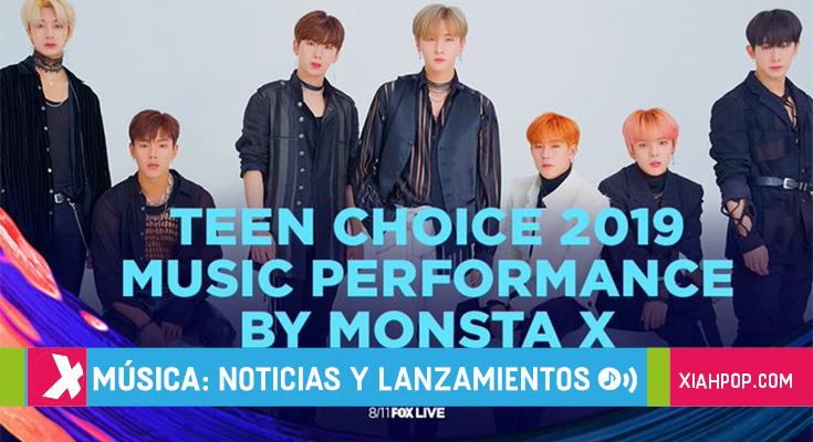 Monsta X participará en los Teen Choice Awards 2019