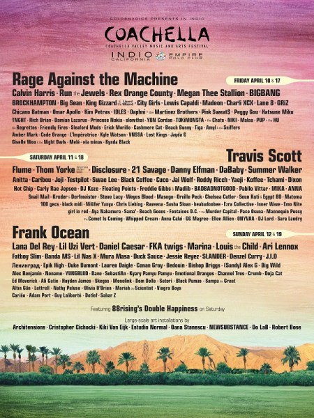 Coachella 2020, el festival más grande de Estados Unidos, confirma su lineup y una vez las estrellas asiáticas dicen presente.