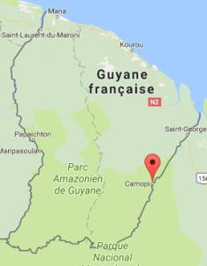 Carte de localisation de Camopi