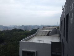 The view from National Chengchi University where we had one day of the conference