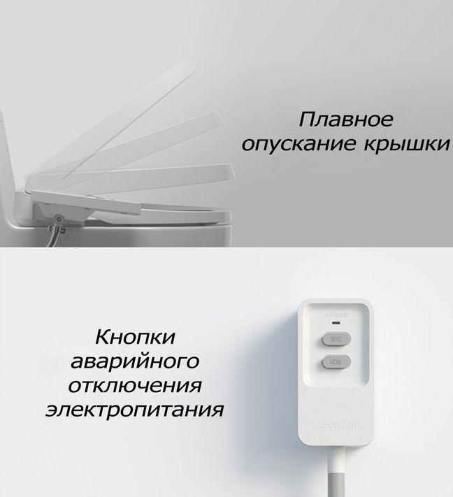 Закрытие крышки унитаза Xiaomi