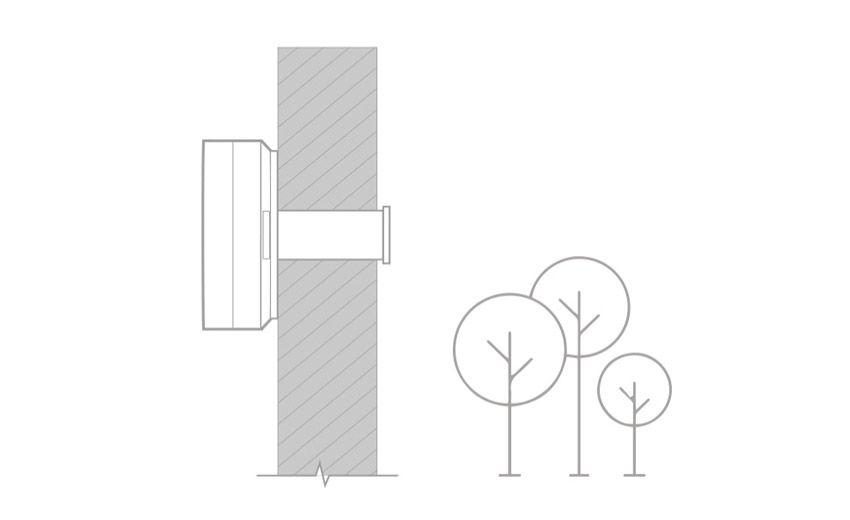 Схема крепления приточного очистителя воздуха SmartMi
