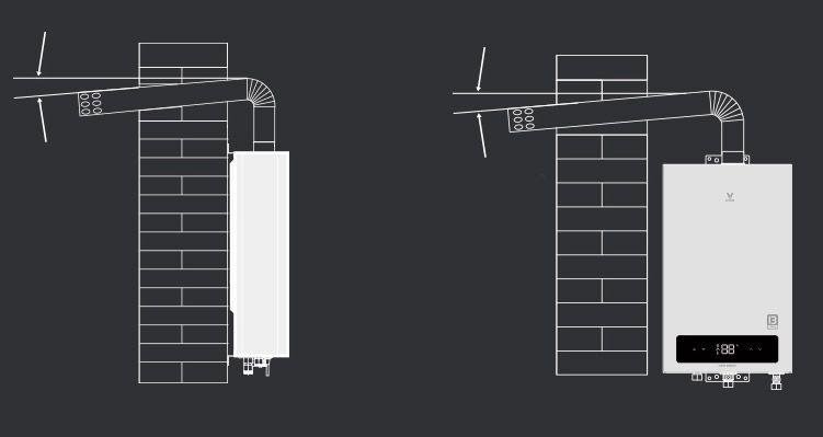 Установка выхлопной трубы газового котла Xiaomi
