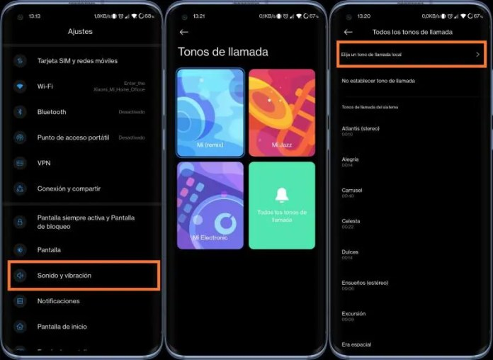 Customize Xiaomi ringtone