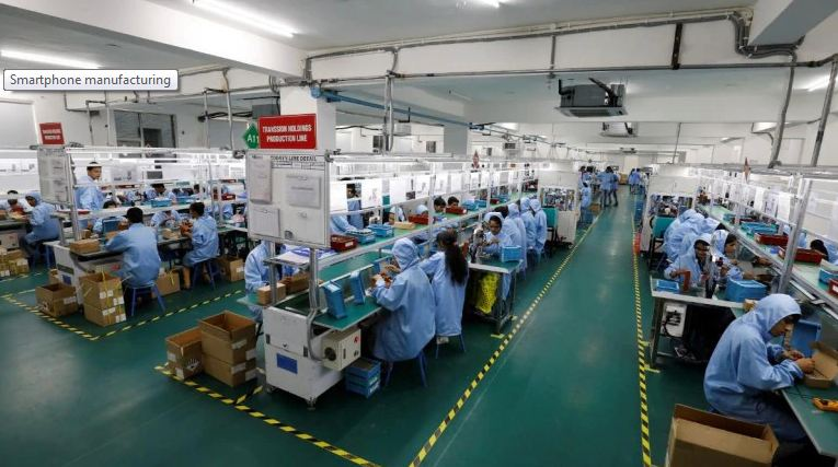smartphone production In India