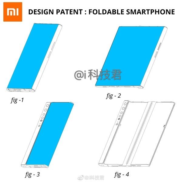 XIaomi folding screen smartphone patent