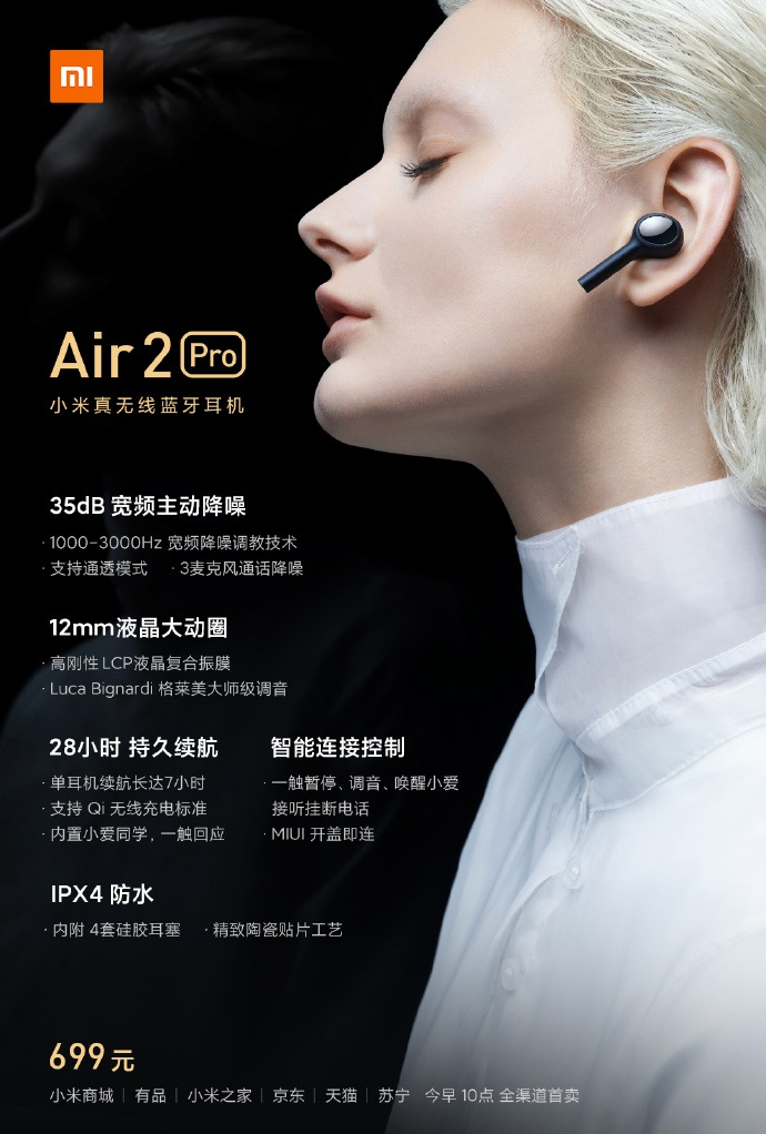 Xiaomi Mi Noise Cancelling Headphones Air 2 Pro