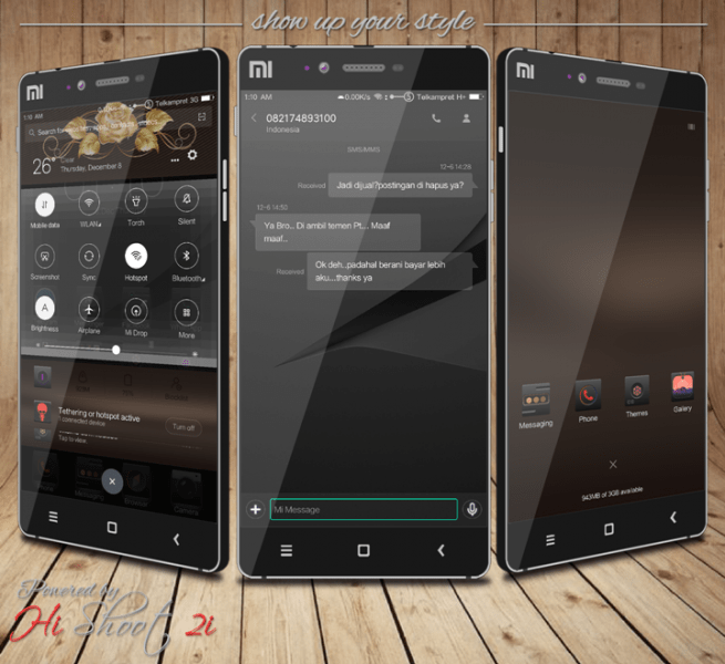Broken Heart is an exclusive black MIUI 8 theme for those who've lost love