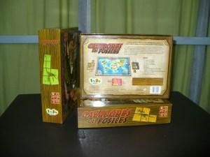 Parte trasera de la caja de Cazadores de Fósiles