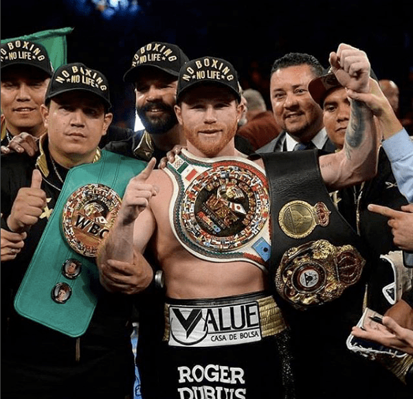"AND THE NEW: Saul ""Canelo"" Alvarez middleweight champion once again"