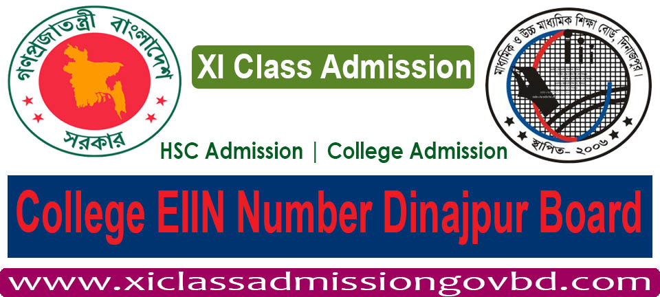 College EIIN Number Dinajpur Board