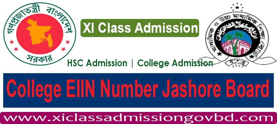 College EIIN Number Jashore Board