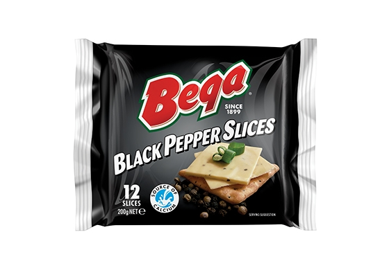 Bega Black Pepper Cheese Slices 12s Image