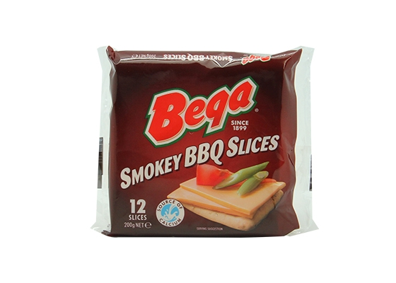 Bega Smokey BBQ Cheese Slices 12s Image