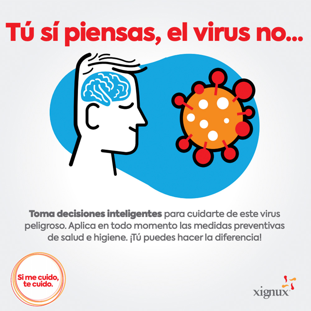 Tu si piensas, el virus no...
