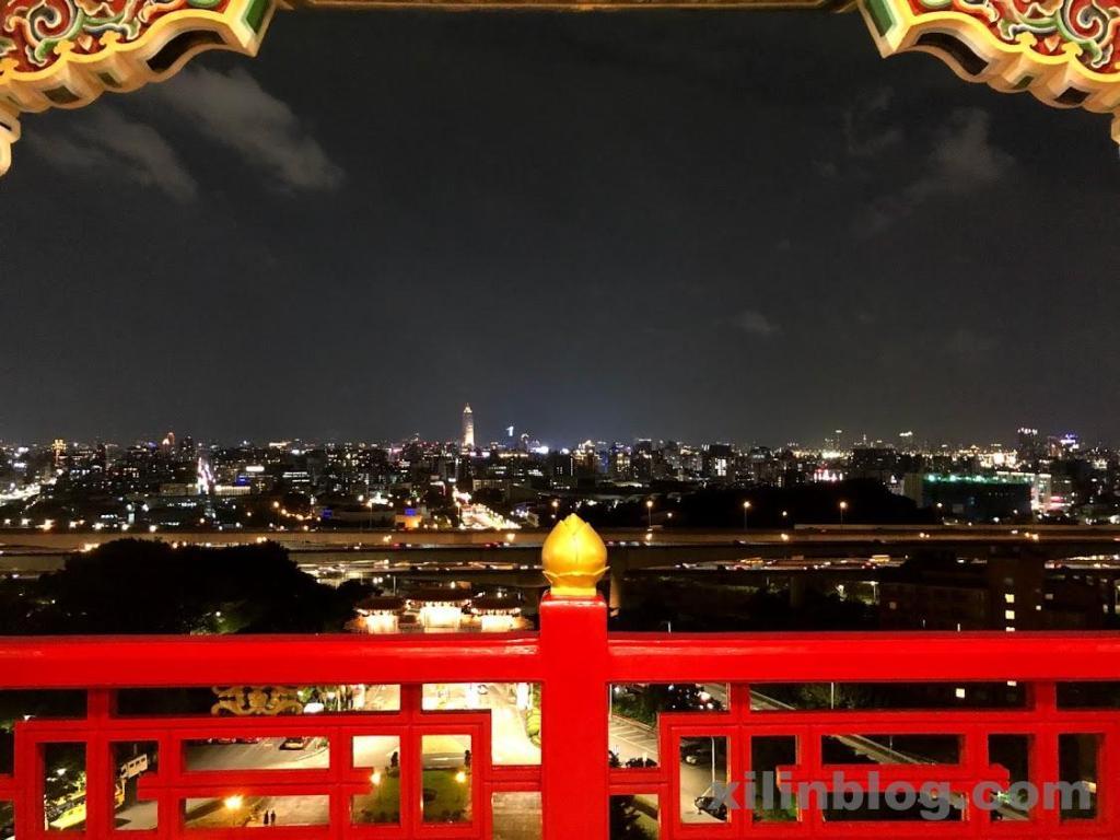 ザ・グランドホテル台北のプレステージ ホライズンルームからの夜景(正面)