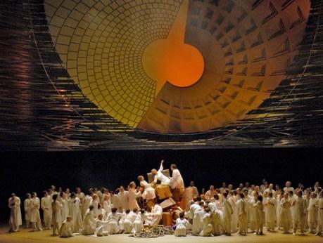 Escena final de Les Troyens al MET, producció de Francesca Zambello