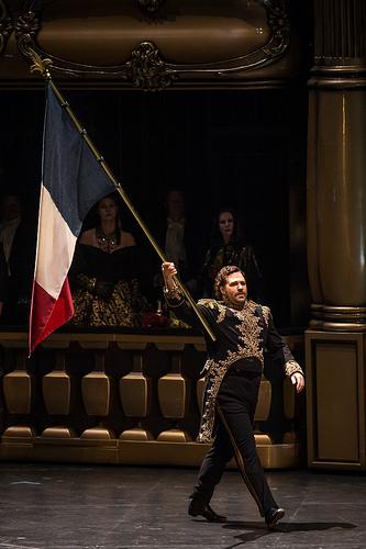 Bryan Hymel Henri a Les vêpres sicilienne de la ROH. Producció Stefan Herheim foto © ROH / Bill Cooper