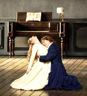 Karine Deshayes i Roberto Alagna en el tercer acte de Werther a l'ONP, producció de Benoît Jacquot. Fotografia de ©Julien Benhamou/Opéra national de Paris