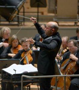 Enrique Mazzola, director de Dinorah a la Berliner Philharmonie, 1 d'octubre de 2014 Fotografia © Bettina Stöß