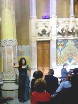 Nancy Fabiola Herrera a la sala Lluís Domènech i Montaner el 8 d¡octubre de 2014 LIFE VICTORIA. Foto IFL