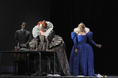 Michele Pertusi, Silvia Tro Santafé i Joyce DiDonato a Maria Stuarda al Gran Teatre del Liceu. Fotografia © A Bofill