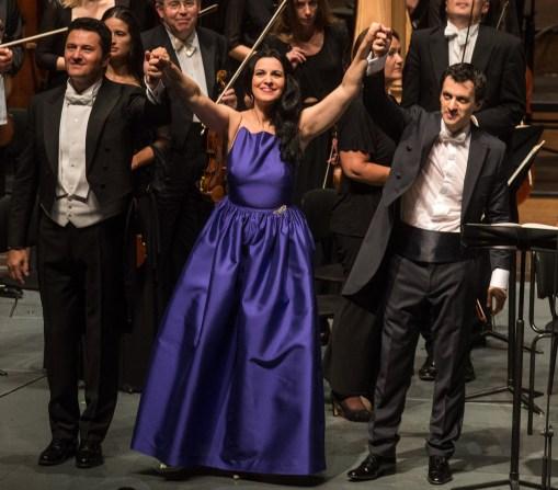 Piotr Beczala, Angela Gheorghiu, Alejo Pérez © Salzburger Festspiele / Marco Borrelli