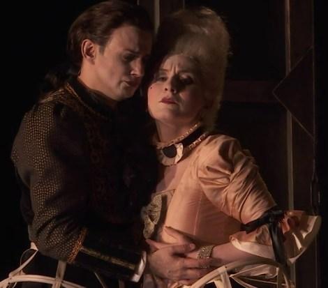 Franco Fagioli (Arsace) i Salome Jicia (Semiramide) a Nancy 2017