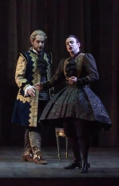 Nahuel Di Pierro (Assur) i Franco Fagioli (Arsace) a Semiramide, Nancy maig de 2017