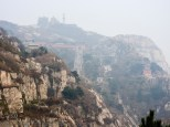 Tai Shan Summit: Panoramic view of the summit, a bit too hazy.