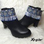 Cubrebotas Flecos #06 Azul-Blanco 2 Xingular