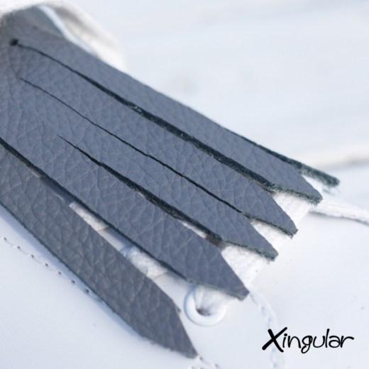 flecos zapatillas gris marengo detalle