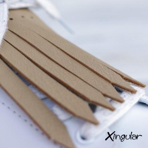 flecos zapatillas ocre detalle