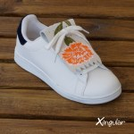 flecos zapatillas claveles naranja