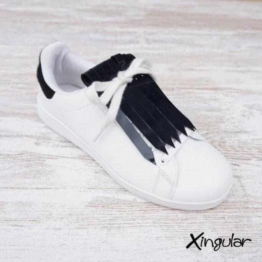flecos zapatillas charol azul marino