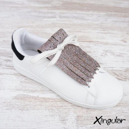 flecos zapatillas glitter