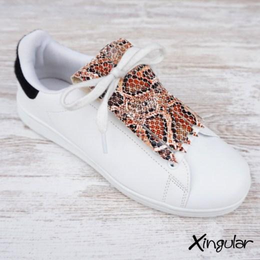 flecos zapatillas serpiente mostaza
