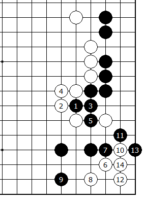 Diagram 9 - White can invades 3-3