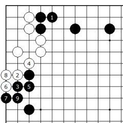 Diagram 9 - White must Yose