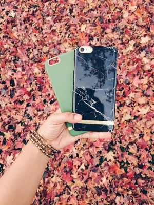 iphone case with fall leaves