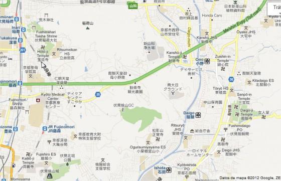 Las cruces gamadas en este mapa son en realidad templos budistas