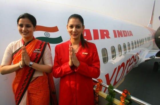 Air India air hostesses, wear their new