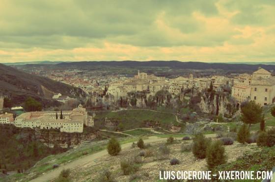 Vista de Cuenca desde Hoz del Huecar