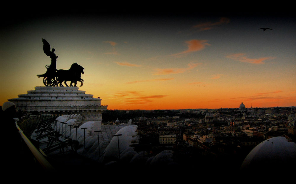 Vistas de Roma desde el Altar de la patria