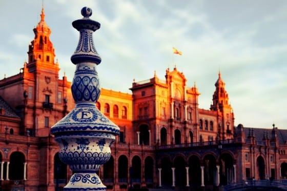 Plaza de España en el Parque de María Luisa Sevilla