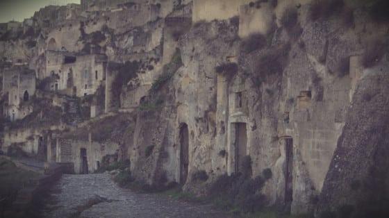 Casas-cueva en Matera