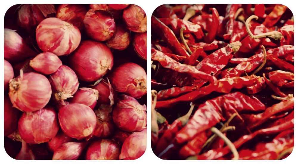 Cebollas y chiles