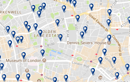Londres - East End - Haz clic para ver todos los hoteles en esta zona