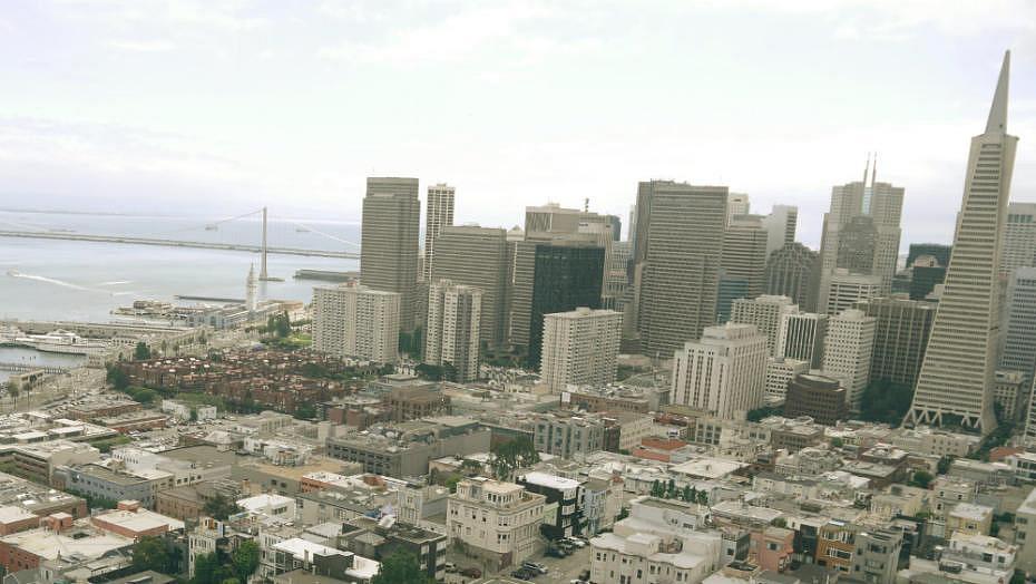 Vistas de San Francisco desde la Coit Tower